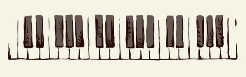 Piano Keys. Vector drawing Royalty Free Stock Photo