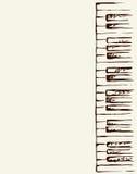 Piano Keys. Vector drawing Stock Photography