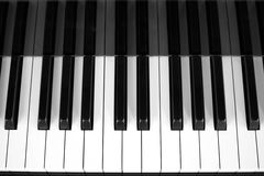 Piano keys view from above Royalty Free Stock Image