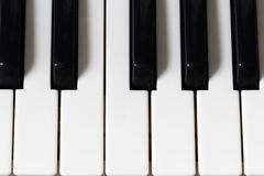 Piano keys viewed from above Royalty Free Stock Photography