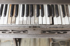 Piano keys Vintage style top view Stock Photography