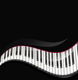 Piano keys wavy background Royalty Free Stock Photos