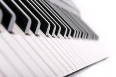 Piano keys on white Stock Photos