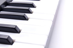 Piano keys on a white background Stock Photography