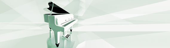 Piano keys on white piano. Royalty Free Stock Photos