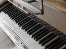 Piano keys wood brown Royalty Free Stock Photo