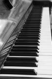 Piano keys and wood grain Royalty Free Stock Photo