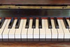 Piano keys and wood grain Royalty Free Stock Image