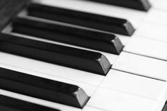 Piano keys and wood grain Stock Image