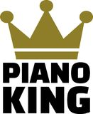 Piano King music Stock Image