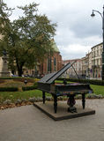 Piano in Krakow square Royalty Free Stock Photo