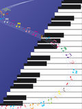 Piano Ladder Music Curve Stock Image