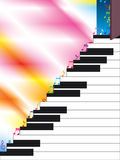 Piano Ladder Open Music Step. Illustration of open door, music step on piano ladder. Left side and white piano place is your sample text Stock Photography