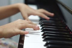 Piano. Learn music Piano for education Stock Images