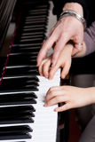 Piano lesson Stock Photo