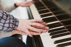 Piano lesson Royalty Free Stock Photography