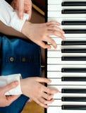 Piano lesson. Royalty Free Stock Photos