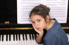 Piano lesson Royalty Free Stock Image