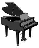 Piano magnífico Foto de archivo
