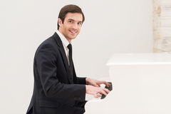 Piano man. Royalty Free Stock Images