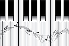Piano melody Royalty Free Stock Image
