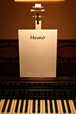 Piano memo Stock Photo