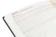Piano mensile 2015 Fotografia Stock
