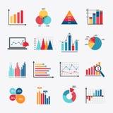 Piano messo icone del grafico di affari Immagini Stock Libere da Diritti