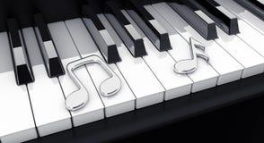 Piano met nota's Stock Foto's
