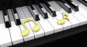 Piano met nota's Royalty-vrije Stock Fotografie