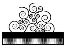 Piano met swooshesvector Stock Foto