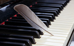 Piano - mjuk musik arkivfoton