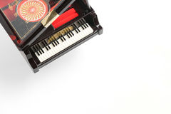 Piano model isolated on white Royalty Free Stock Photography