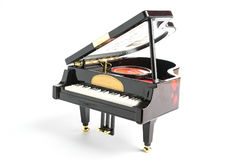 Piano model isolated on white Stock Images