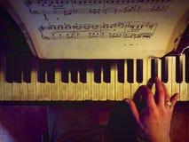 Piano mood royalty free stock photo