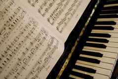 Piano music Royalty Free Stock Photography