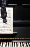 Piano, Music & Bow Tie Royalty Free Stock Photo