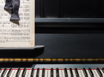Piano, Music & Bow Tie Stock Photography