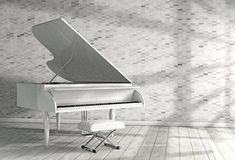 Piano music conceptual image.3d illustration royalty free stock photo