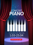 Piano music concert background. Musical illustration poster.  Royalty Free Stock Photos