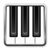 Piano music icon Royalty Free Stock Images