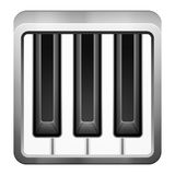 Piano music icon Royalty Free Stock Photography
