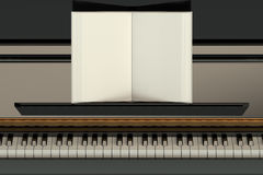 Piano with music notebook Royalty Free Stock Photography