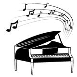 Piano and music notes Royalty Free Stock Images