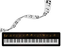 Piano and Music Notes. Illustration of a piano and music notes Royalty Free Stock Photos
