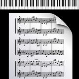 Piano-Music notes-Melody Royalty Free Stock Photos