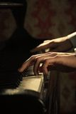 Piano music pianist hands playing Stock Image