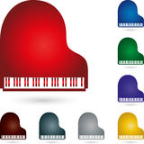 Piano, music and piano logo Royalty Free Stock Photography