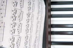 Piano music sheets Royalty Free Stock Photos