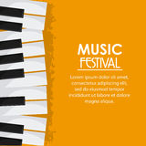 Piano music sound media festival icon. Vector graphic Royalty Free Stock Images